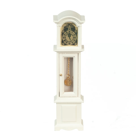 Grandfather Clock, White with Glass Door