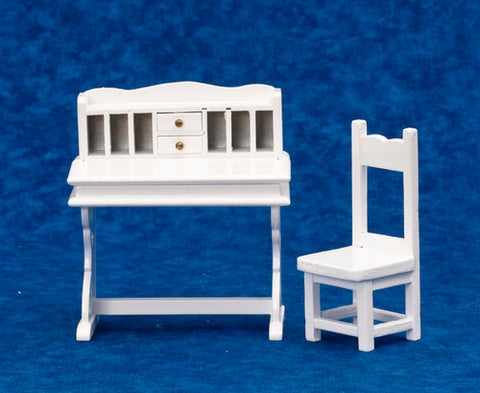 Desk and Chair, White