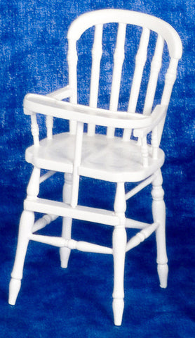Victorian White High Chair