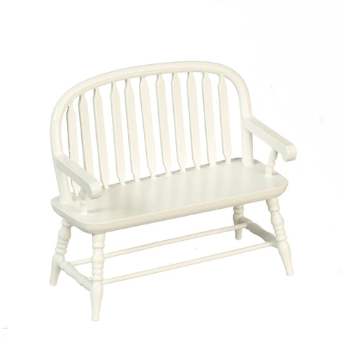 Windsor Bench, White Finish