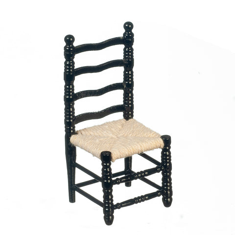 Ladder Back Chair, Black