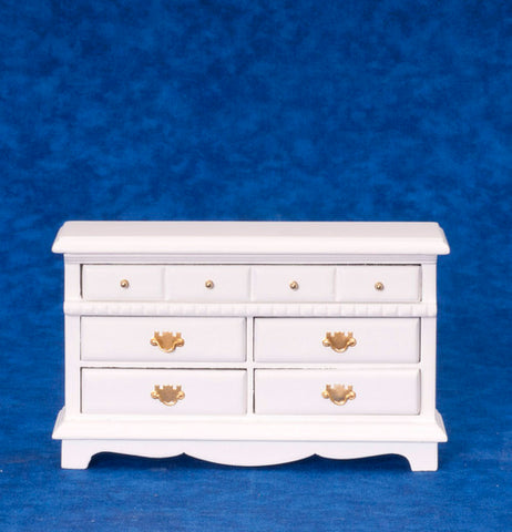Dresser with Five Drawers, White
