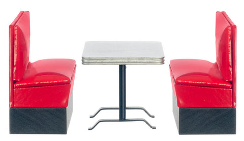 3 Piece 1950's Booth Set, Red