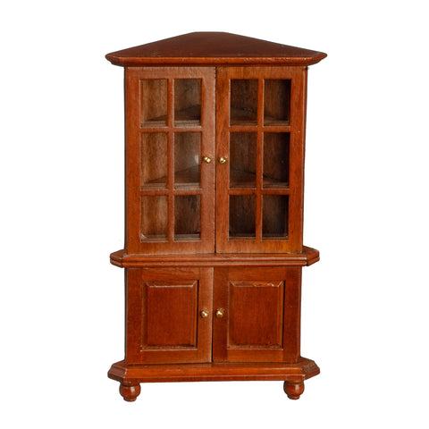 Corner Cabinet, Walnut Finish