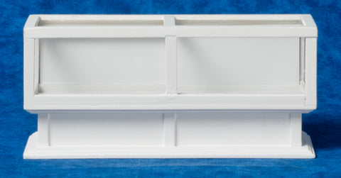 Store Display Case, White, Oblong