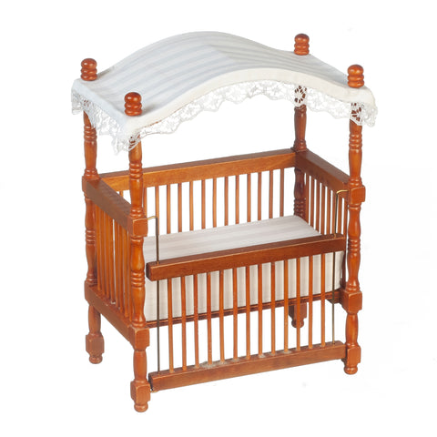 Canopy Crib, Walnut