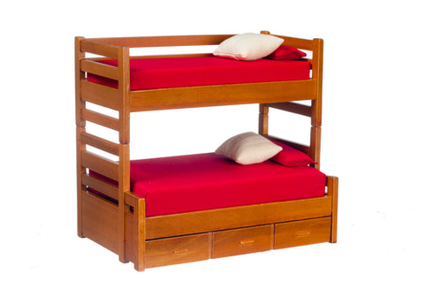 Trundle Bunk Bed, Walnut