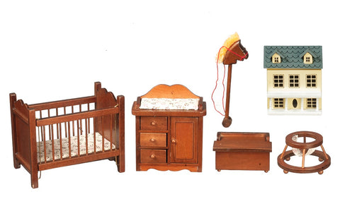Nursery Set, Five Piece, Walnut Finish
