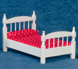 Single Bed, Simple and Sturdy, White
