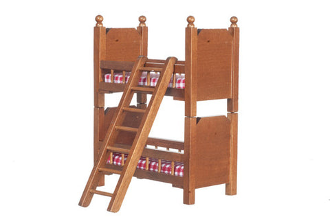 Junior Bunk Beds, Walnut Finish