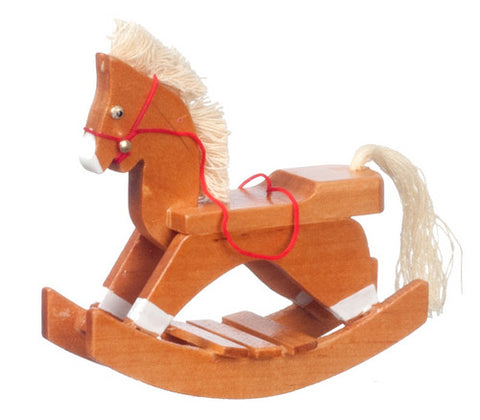 Brown Wooden Rocking Horse