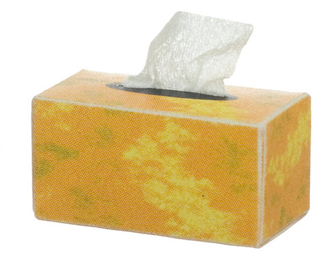 Facial Tissue Box, Gold