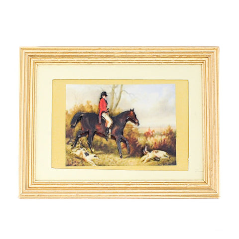 Framed Hunt Scene, Three Dimensional