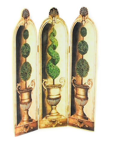 Folding Screen with Topiary