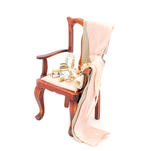 Chair with Sewing Accessories