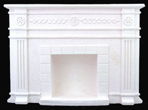 Federal Style Fireplace, Casted Resin