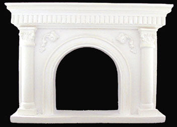 Fireplace, White Resin Cast