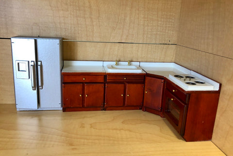 Kitchen Set, Mahogany and Stainless