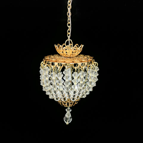Large Ceiling Fixture with Swarovski Crystals Style No. 3