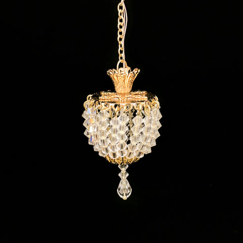 Petite Hanging Crystal Ceiling Fixture