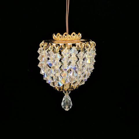 Ceiling Fixture with Swarovski Crystals Style No. 7