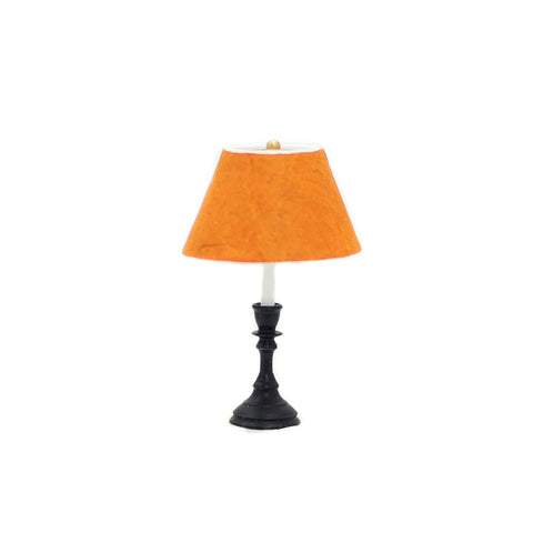 Table Lamp, Black Base, Gold Shade