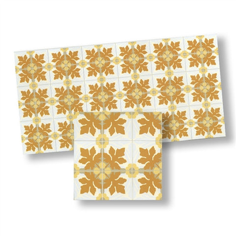 Mosaic Floor Tile, Golden Tones, Matte Finish