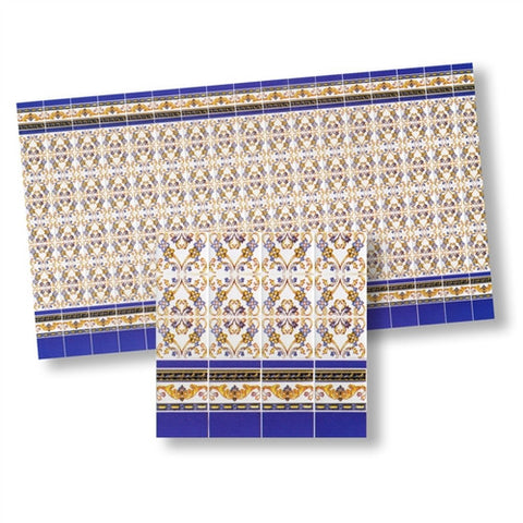 Mediteranean Tiles Blue and Gold
