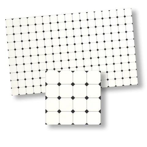 Rhombus Tile, Black and White