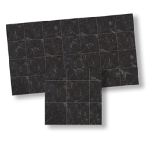 Faux Marble Tile, Black