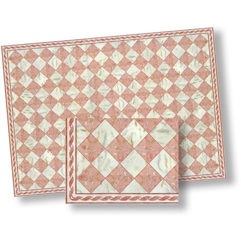 Marble Tile, Pink and White