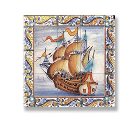 Wall Tile with Sailing Ship