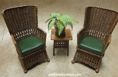 Three Piece Mission Style Wicker Set
