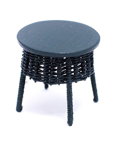 Wicker End Table, Green