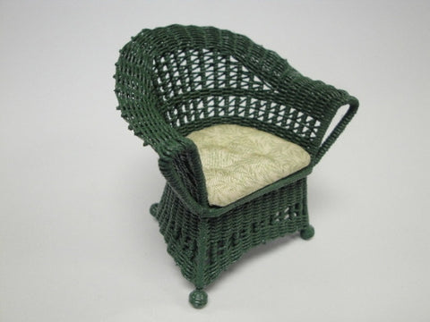 Wicker Chair, Green and Green