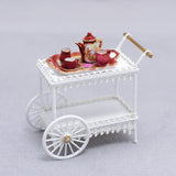 Wicker Tea Cart, White