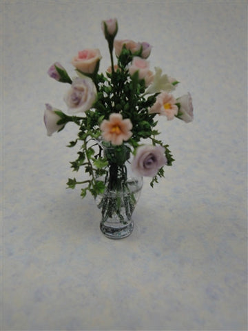 Formal Vase with Soft Pink Roses