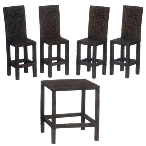 Wicker Pub Table Set