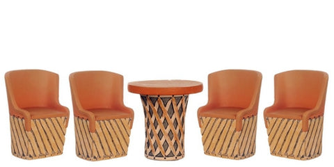 Mexican Equipale Table and Chair Set ON SALE