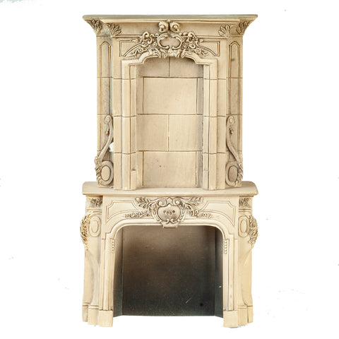 Fireplace with Overmantle, Grey