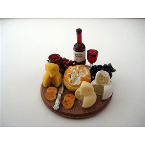 Wine and Cheese Board, Round Wooden