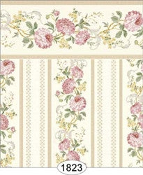 Wallpaper - Chrysanthemum Stripe - Yellow
