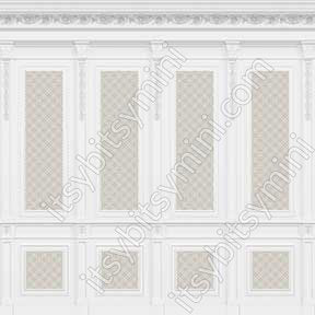 French Wall Panel Boiserie, Beige