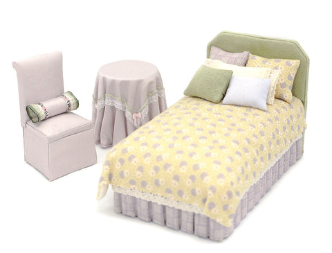 Bedroom Set, Lavender and Green
