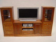 Entertainment Center New Walnut