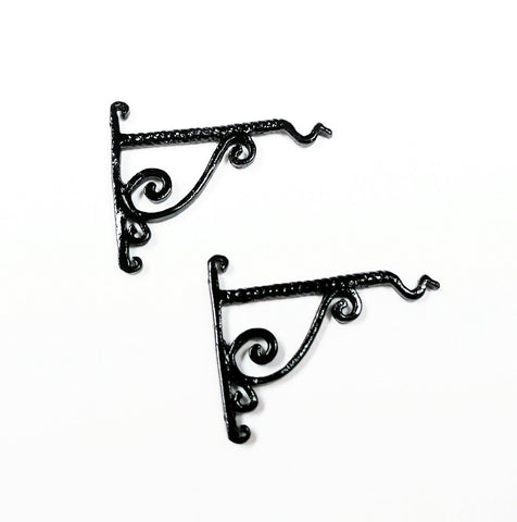 Brackets, Set of Two Metal Twisted Rope Design