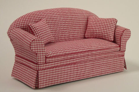 Red Check Sofa by Lees Line