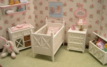 Lees Line Nursery Set, White OUT OF STOCK