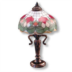 Rose Shade Tiffany Table Lamp by Reutter