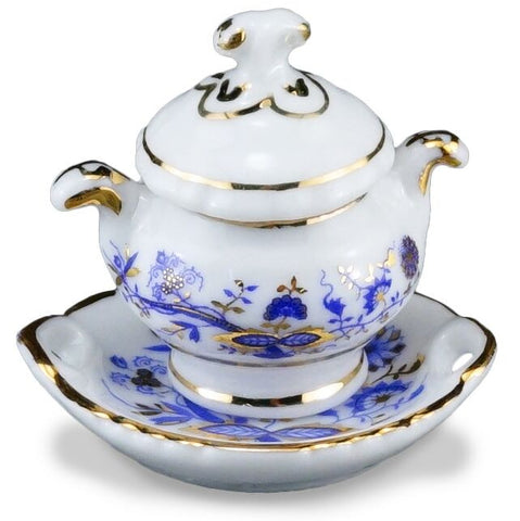 Blue Onion Soup Tureen